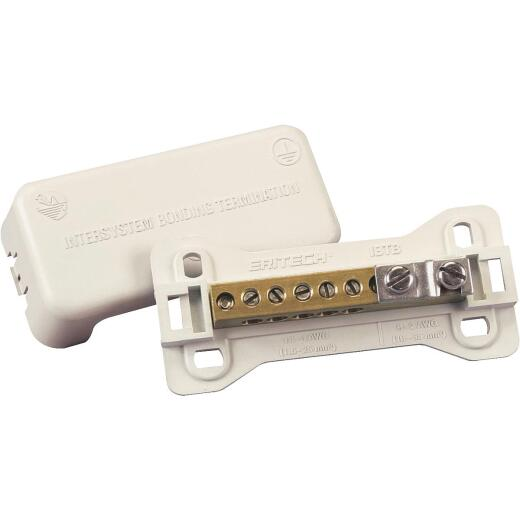 Erico 2.01 In. W. #14 to #4 & #6 to #2 AWG Intersystem Bonding Termination Ground Clamp