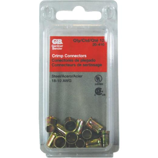 Gardner Bender 18 to 10 AWG Copper-to-Copper Zinc-Plated Steel Crimp Connector (12-Pack)