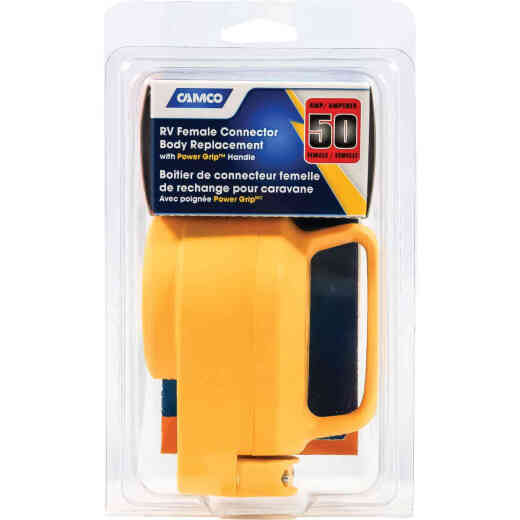Camco Power Grip 50A Female Replacement RV Receptacle