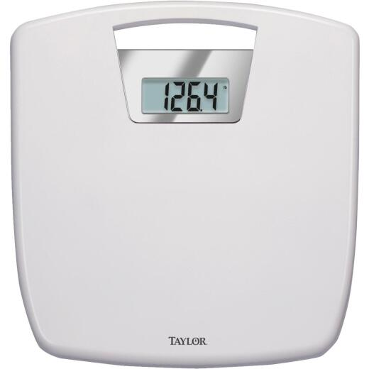 Taylor Digital 350 Lb. Bath Scale, White