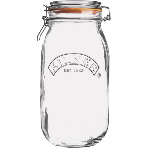 Kilner 51 Oz. Round Clip Top Glass Storage Jar