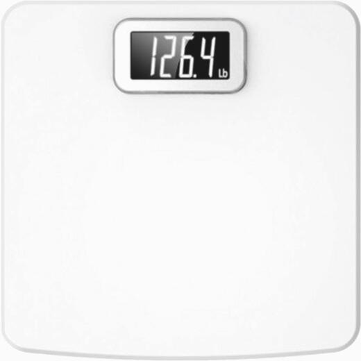 Taylor Digital 400 Lb. Glass Bath Scale, White