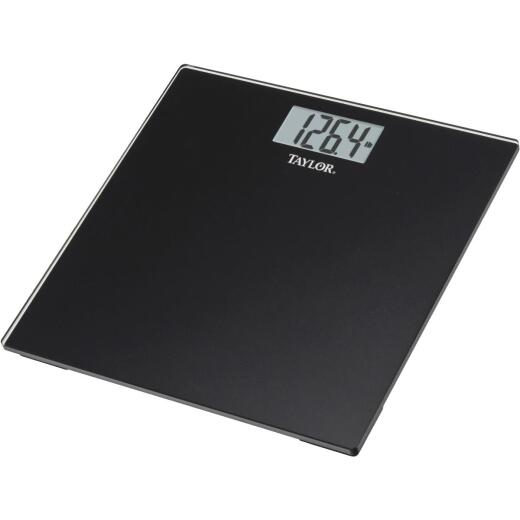 Taylor Digital 400 Lb. Glass Bath Scale, Black