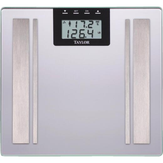 Taylor Digital 400 Lb. Body Analyzer Bath Scale, Black