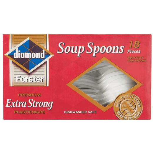 Diamond Heavy-Duty Plastic Soup Spoons (18 Count)