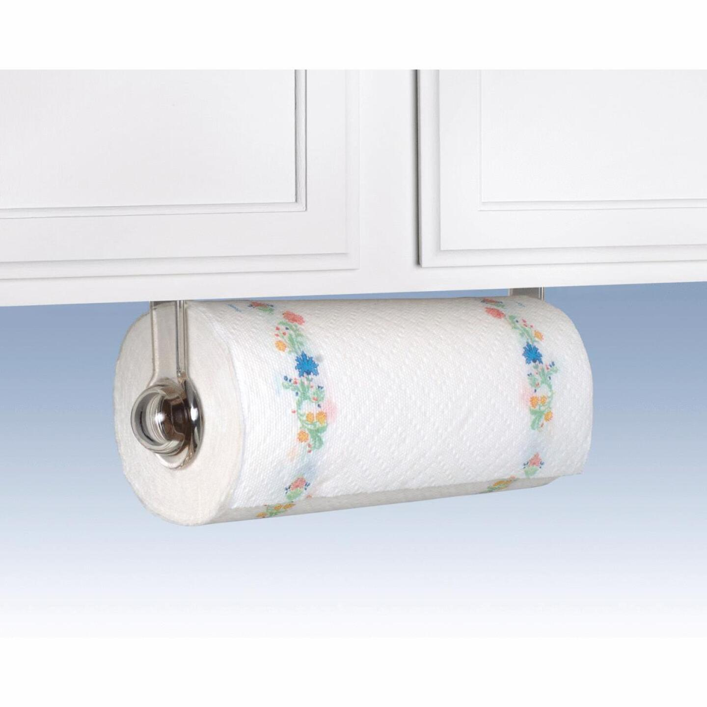 Spectrum Clear Plastic Wall or Cabinet Paper Towel Holder Image 1