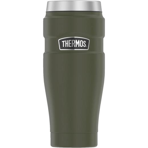 Thermos Stainless King 16 Oz. Army Green Stainless Steel Travel Tumbler