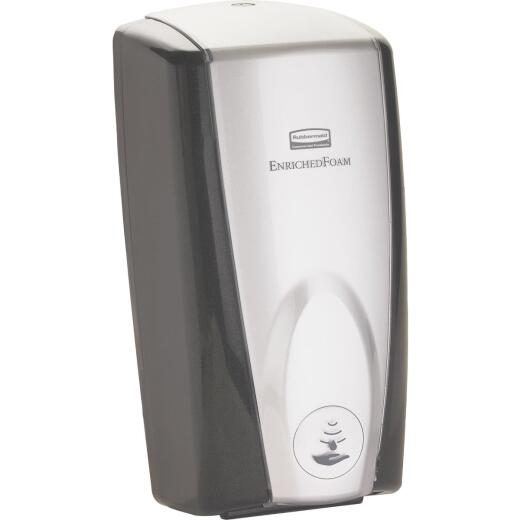 Rubbermaid Autofoam Wall Mount Black Chrome Dispenser