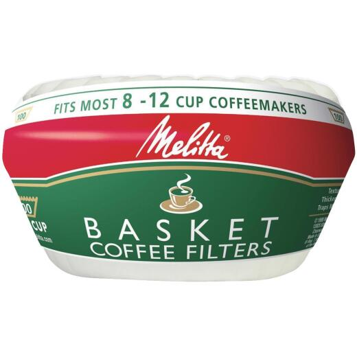 Melitta 8-12 Cup White Basket Coffee Filter (100-Pack)