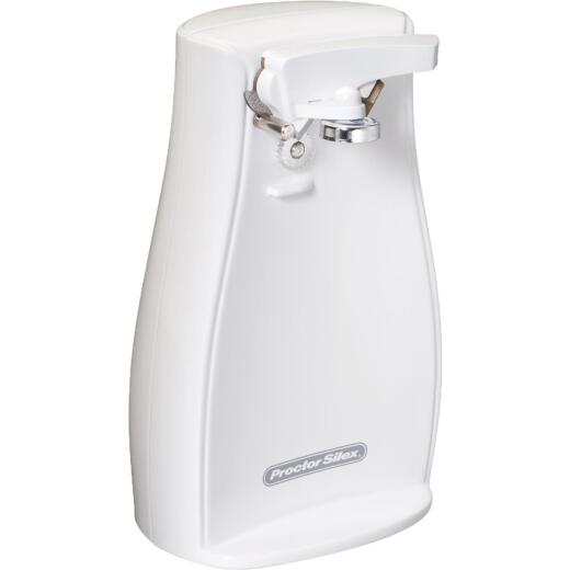 Proctor Silex Power Opener White Electric Can Opener
