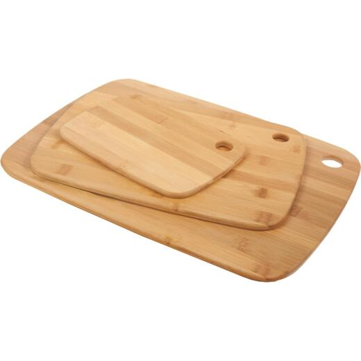 Core Classic Small/Medium/Large Natural Bamboo Cutting Board (3 Pack)