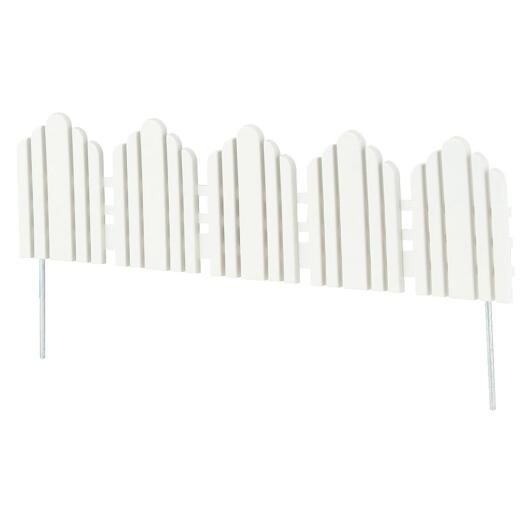 Adirondack 6 In. H x 22.5 In. L Poly Decorative Border Fence