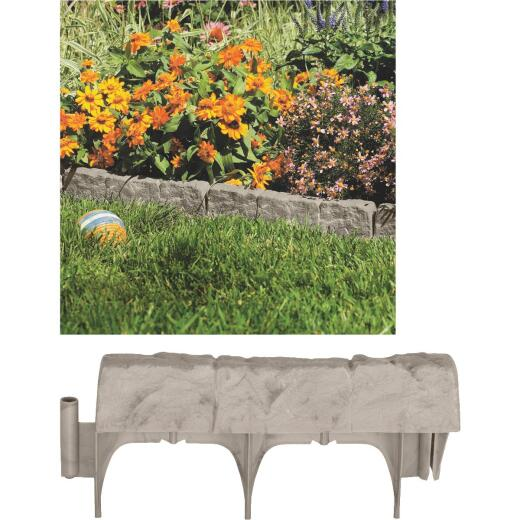 Suncast 6 In. H. x 12 In. L. Border Stone Poly Lawn Edging (10-Pack)