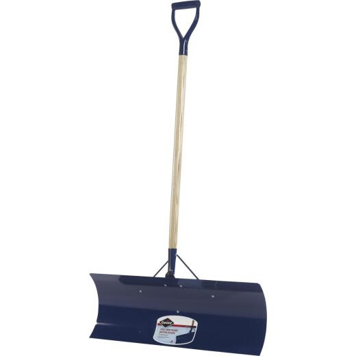 Garant Yukon 30 In. Steel Snow Pusher with 48 In. D-Grip Wood Handle
