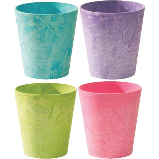 Novelty 5 in. Bright Cache Planter (Assorted Colors)