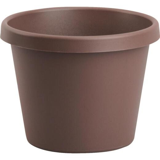 Bloem 6 In. Dia. Chocolate Poly Classic Flower Pot