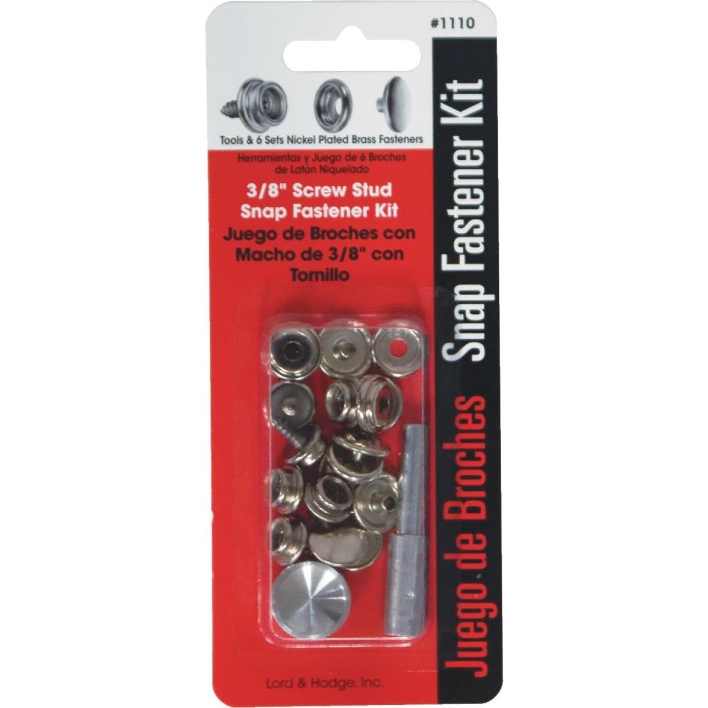 Lord & Hodge Metal Snap Fastener Kit Canvas to Hard Surface (6 Ct.) Image 1