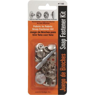 Lord & Hodge Metal Snap Fastener Kit for Canvas (6 Ct.)