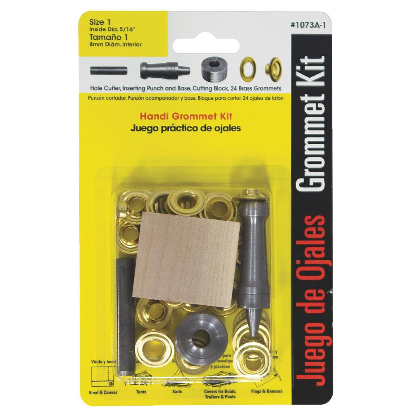 Lord & Hodge 5/16 In. Brass Grommet Kit Image 1