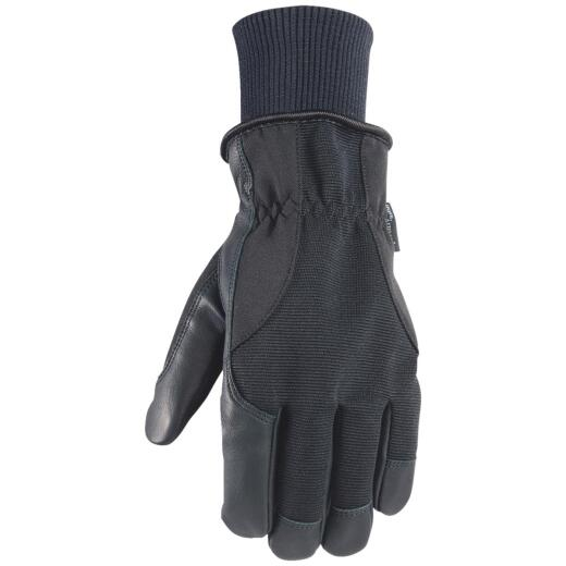 Wells Lamont HydraHyde Men's 2XL Grain Goatskin Black Insulated Work Glove