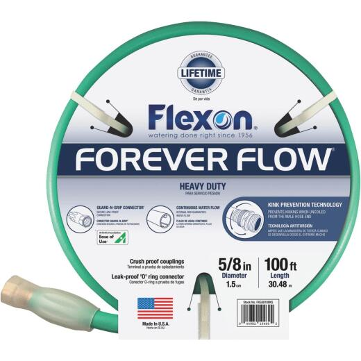 Flexon Forever Flow 5/8 In. Dia. x 100 Ft. L. Heavy-Duty Garden Hose