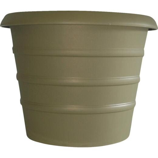 Myers Marina 16 In. Dia. Slate Green Poly Flower Pot