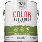 Do it Best Color Solutions Latex Self-Priming Semi-Gloss Interior Wall Paint, Bright White, 1 Gal. Image 2