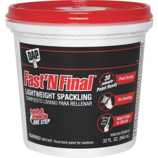 DAP Fast 'N Final 32 Oz. Lightweight Latex Patch & Prime Spackling