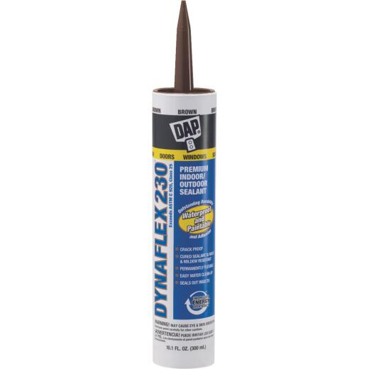 DAP DYNAFLEX 230 10.1 Oz. 100% Waterproof Window, Door, Siding & Trim Elastomeric Sealant, Brown