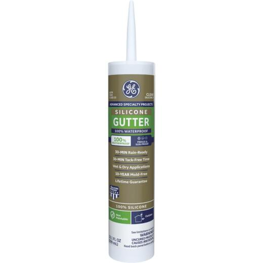 GE Gutter Silicone 2 Sealant, Clear, 10.1oz