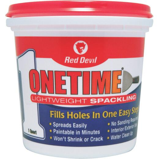 Red Devil Onetime 1 Qt. Lightweight Acrylic Spackling Compound