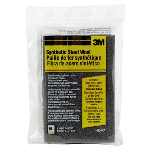 3M #000 Synthetic Steel Wool (6 Pack)