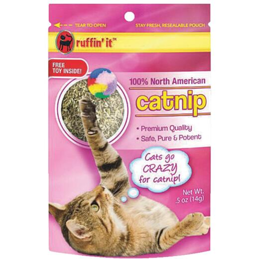 Westminster Pet Ruffin' it 0.5 Oz. 100% North American Catnip with Toy