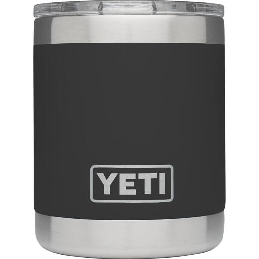 Yeti Rambler Lowball 10 Oz. Black Stainless Steel Insulated Tumbler