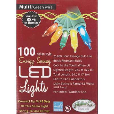 J Hofert Multi 100-Bulb Italian Style LED Light Set