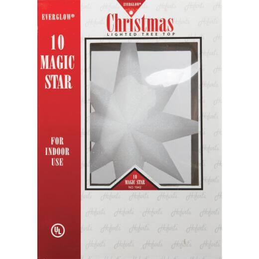 J Hofert Everglow Clear 12 In. Star Christmas Tree Topper