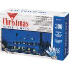 J Hofert Clear 300-Bulb Mini Incandescent Flashing Icicle Light Set with White Wire Image 3