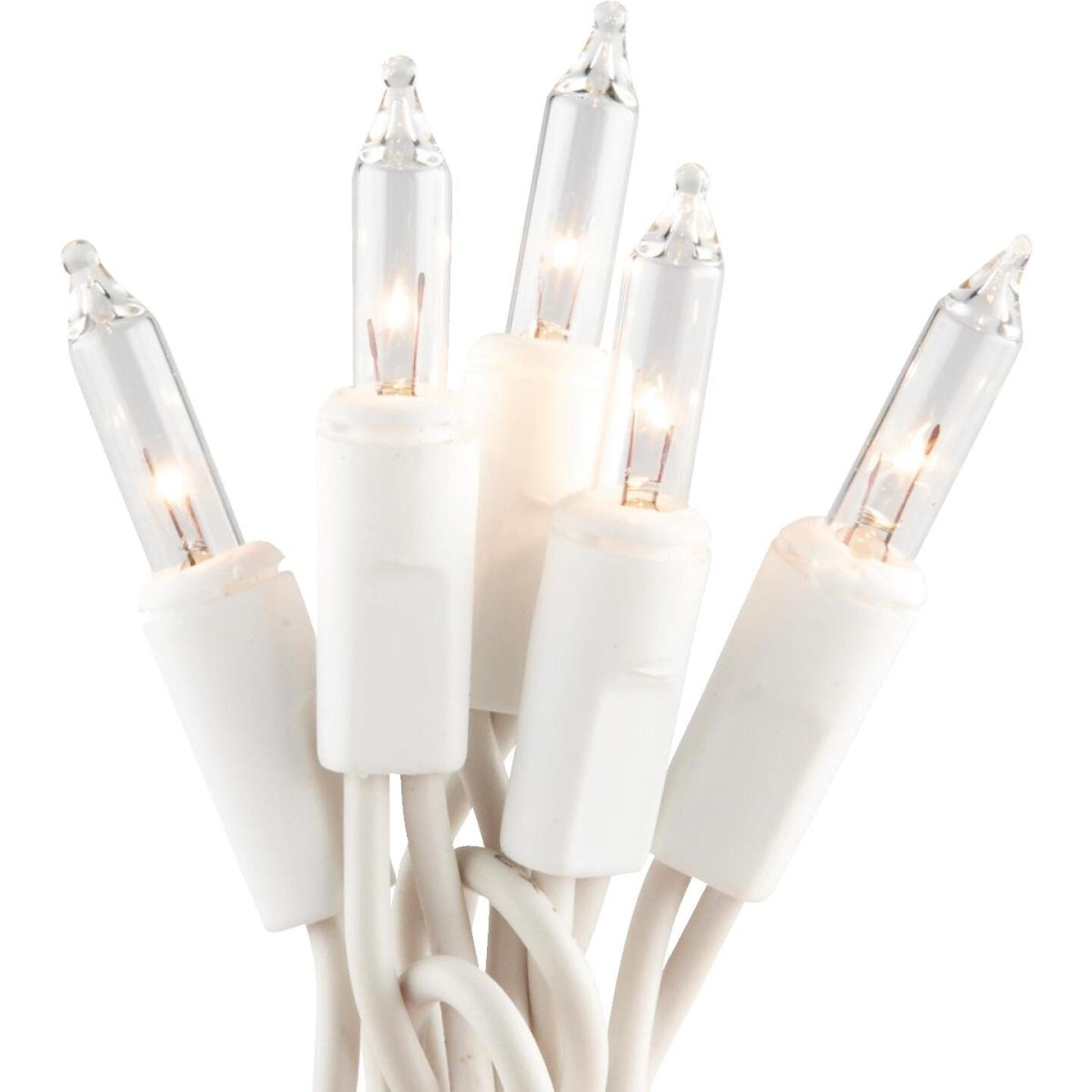 J Hofert Clear 300-Bulb Mini Incandescent Flashing Icicle Light Set with White Wire Image 1