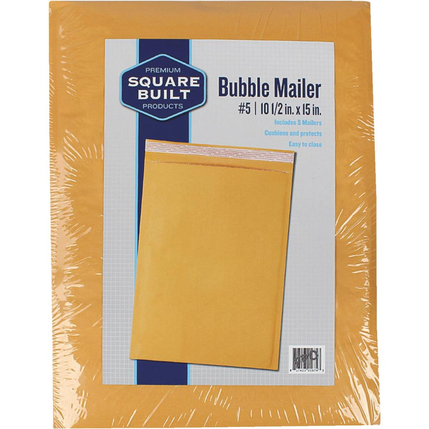 Square Built 10.5 In. x 15 In. #5 Bubble Mailer (5-Pack) Image 1